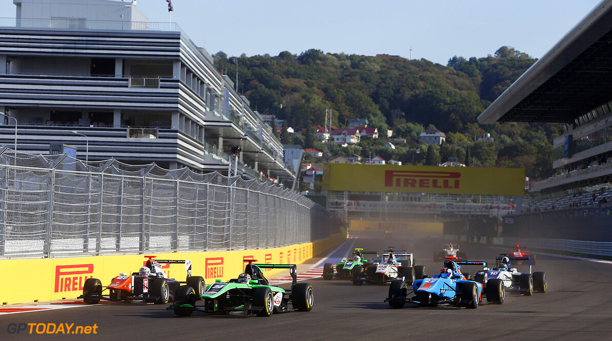 2015 GP3 Series Round 7. Sochi Autodrom, Sochi, Russia. Sunday 11 October 2015. Sandy Stuvik (THA, Status Grand Prix)  Photo: Zak Mauger/GP3 Series Media Service. ref: Digital Image _L0U8356   Zak Mauger    Race One 1 race action