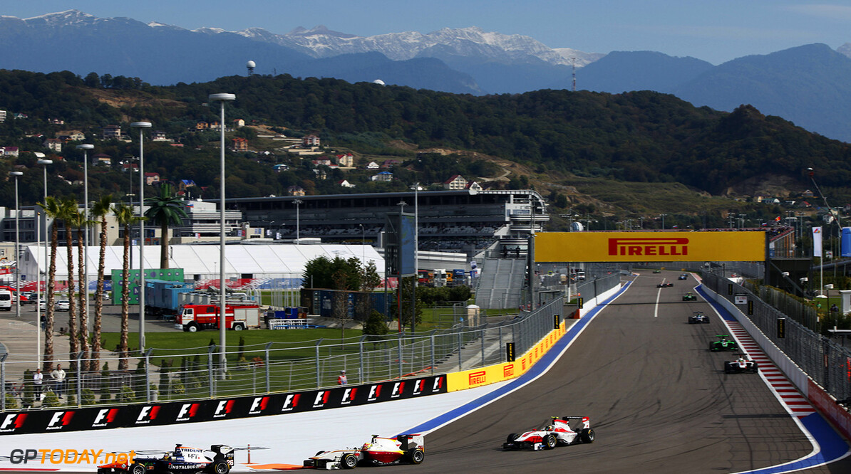 2015 GP3 Series Round 7. Sochi Autodrom, Sochi, Russia. Sunday 11 October 2015. Artur Janosz (POL, Trident)  Photo: Zak Mauger/GP3 Series Media Service. ref: Digital Image _MG_3582   Zak Mauger    Race Two 2 action
