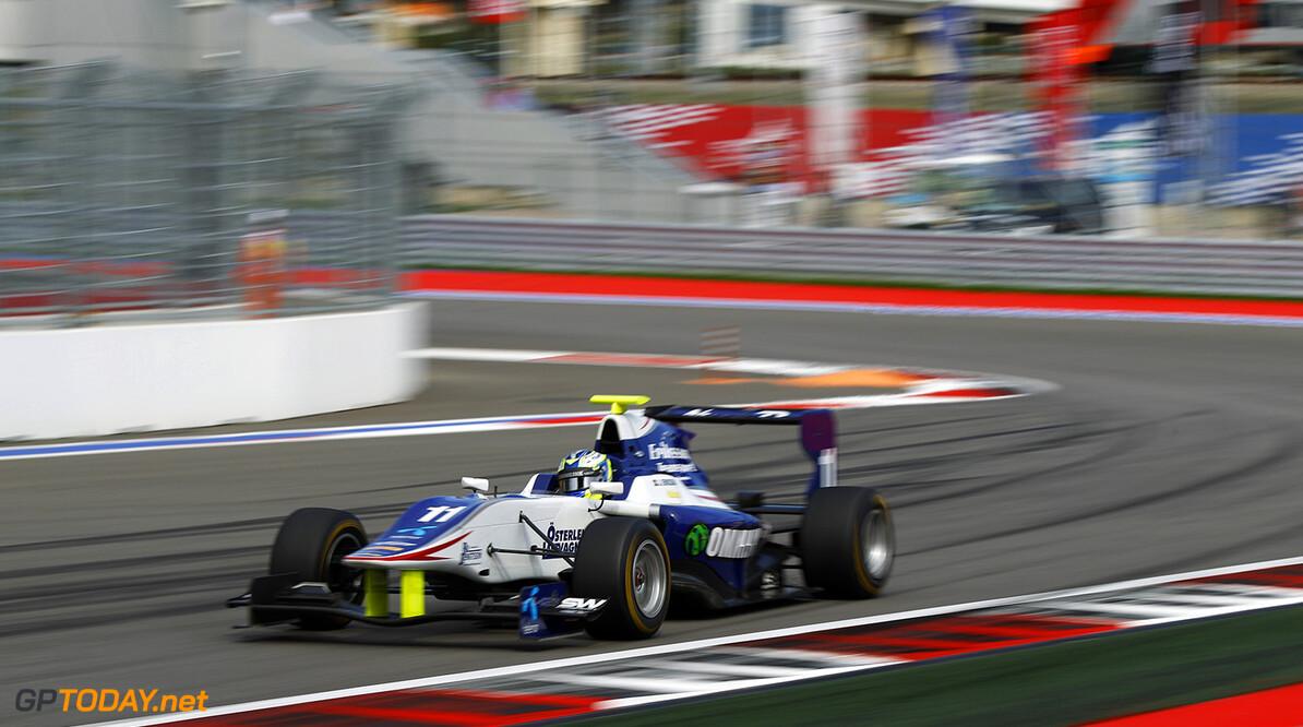 2015 GP3 Series Round 7. Sochi Autodrom, Sochi, Russia Sunday 11 October 2015. Jimmy Eriksson (SWE, Koiranen GP)  Photo: Sam Bloxham/GP3 Series Media Service. ref: Digital Image _G7C7881  Sam Bloxham    Two action