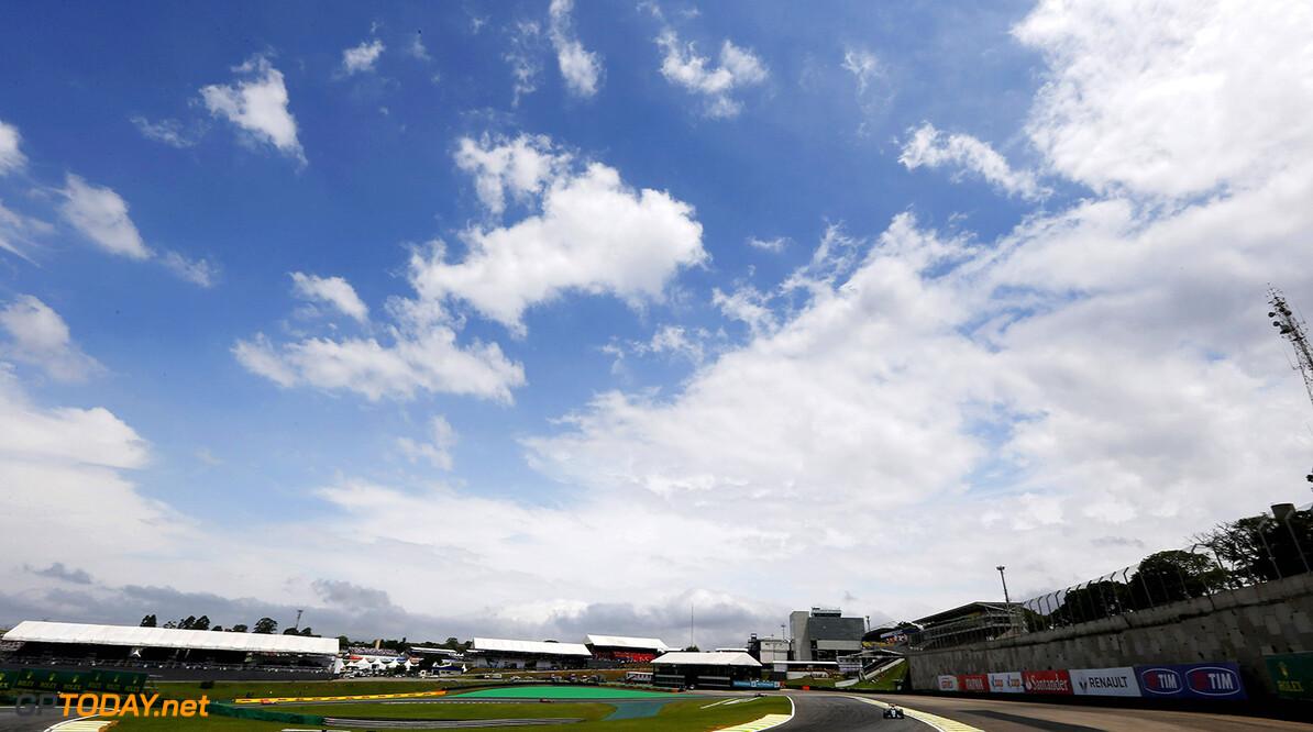 Interlagos, Sao Paulo, Brazil. Sunday 15 November 2015. Felipe Massa, Williams FW37 Mercedes. Photo: Charles Coates/Williams ref: Digital Image WN7T3063      Action