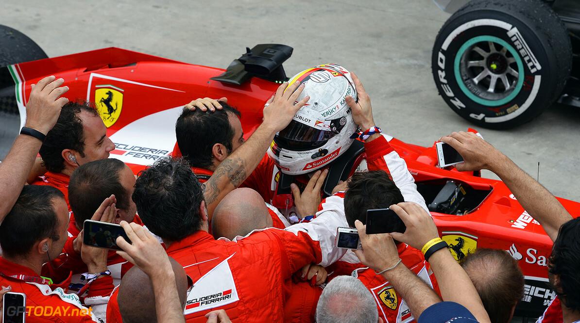 Vettel pakt een Ferrari-record van Raikkonen af