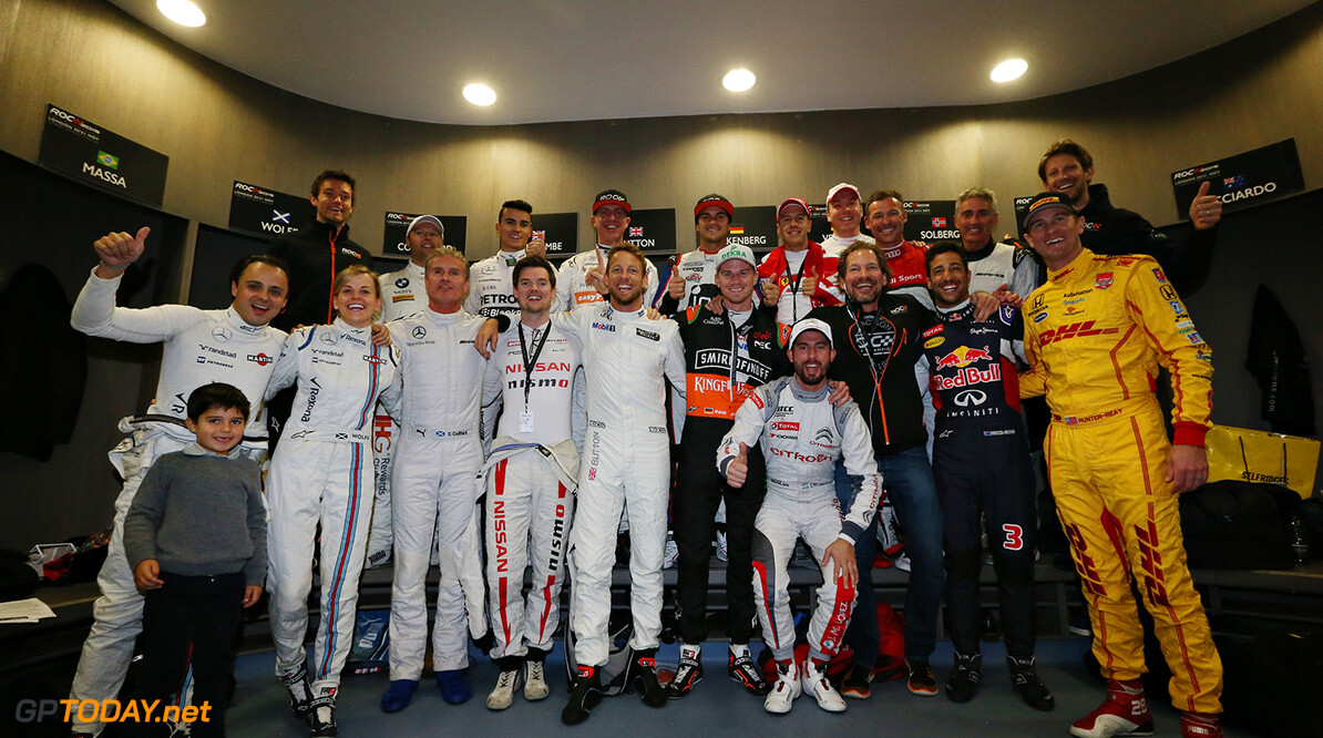 2015 ROC Nations Cup, Olympic Park, London The drivers in the locker room before the ROC Nations Cup      portrait