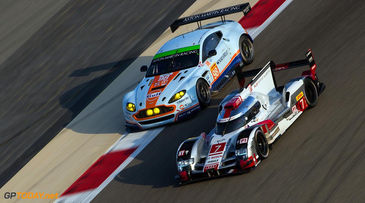 ND5_9580.jpg Car #7 / AUDI SPORT TEAM JOEST (DEU) / Audi R18 e-tron quattro Hybrid / Marcel Fassler (CHE) / Andre Lotterer (DEU) / Benoit Treluyer (FRA)- 6 Hours of Bahrain at Bahrain International Circuit - Sakhir - Bahrain  Car #7 / AUDI SPORT TEAM JOEST (DEU) / Audi R18 e-tron quattro Hybrid / Marcel Fassler (CHE) / Andre Lotterer (DEU) / Benoit Treluyer (FRA)- 6 Hours of Bahrain at Bahrain International Circuit - Sakhir - Bahrain  Nick Dungan Sakhir Bahrain  Adrenal Media 6 hours WEC ACO Bahrain motorsport