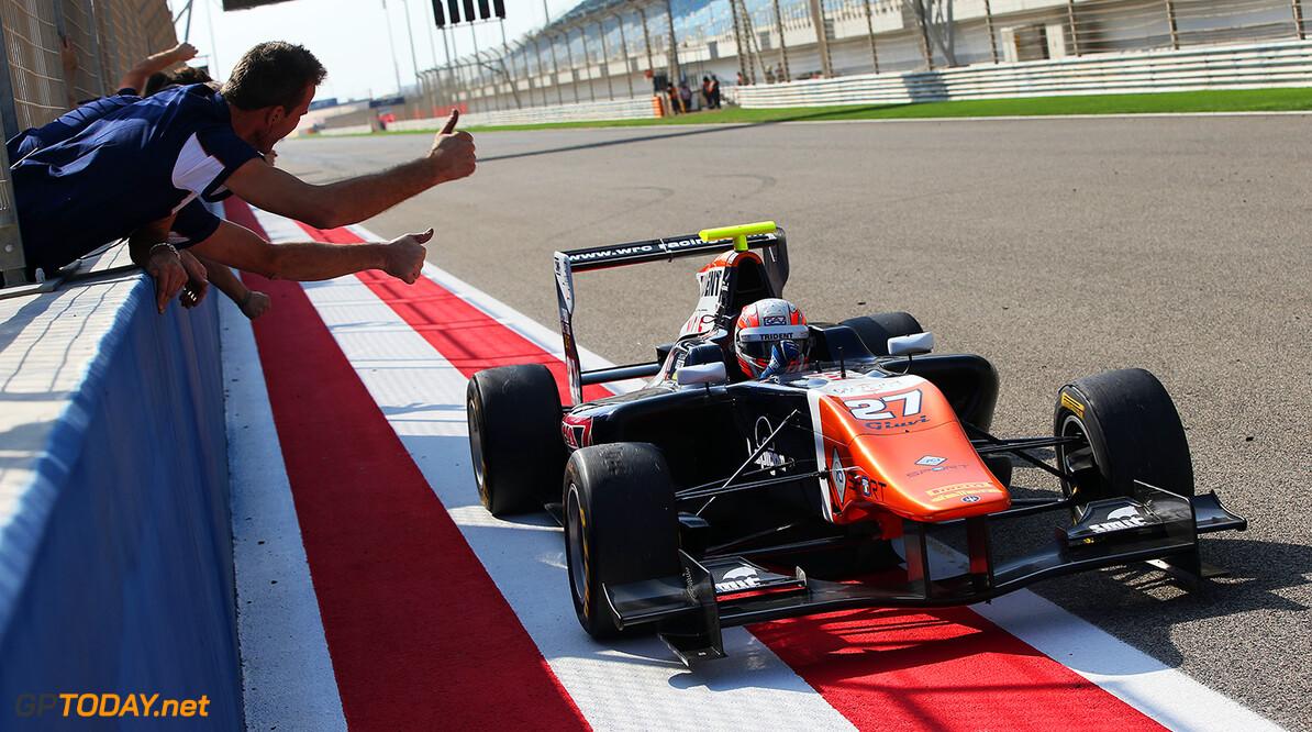 2015 GP3 Series Round 8. Bahrain International Circuit, Bahrain Saturday 21 November 2015. Luca Ghiotto (ITA, Trident)  Photo: Jakob Ebrey/GP3 Series Media Service. ref: Digital Image AD8T9851  Jakob Ebrey    race Two 2