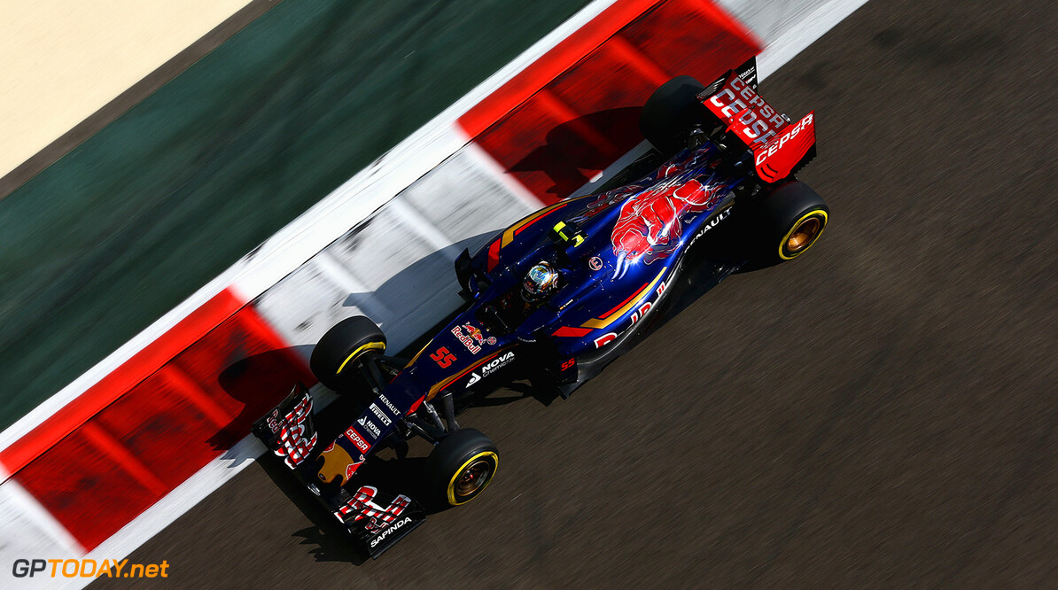ABU DHABI, UNITED ARAB EMIRATES - NOVEMBER 27:  Carlos Sainz of Spain and Scuderia Toro Rosso drives during practice for the Abu Dhabi Formula One Grand Prix at Yas Marina Circuit on November 27, 2015 in Abu Dhabi, United Arab Emirates.  (Photo by Clive Mason/Getty Images) // Getty Images/Red Bull Content Pool // P-20151127-00916 // Usage for editorial use only // Please go to www.redbullcontentpool.com for further information. //  F1 Grand Prix of Abu Dhabi - Practice Clive Mason Abu Dhabi United Arab Emirates  P-20151127-00916