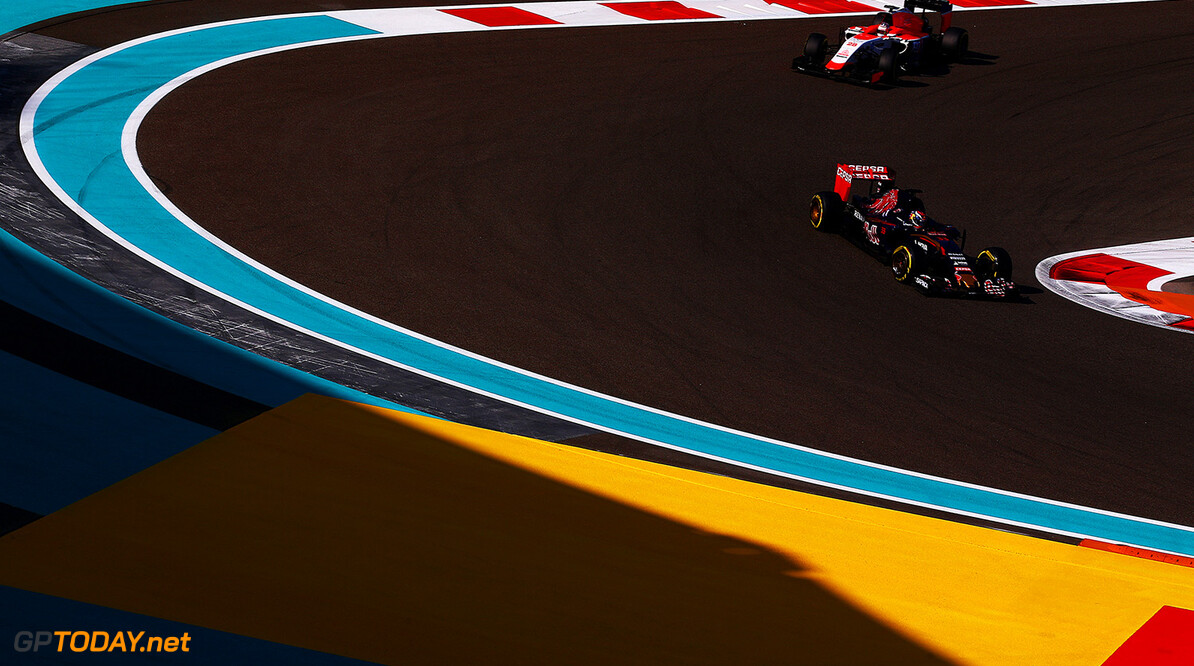 ABU DHABI, UNITED ARAB EMIRATES - NOVEMBER 27:  Max Verstappen of Netherlands and Scuderia Toro Rosso drives during practice for the Abu Dhabi Formula One Grand Prix at Yas Marina Circuit on November 27, 2015 in Abu Dhabi, United Arab Emirates.  (Photo by Dan Istitene/Getty Images) // Getty Images/Red Bull Content Pool // P-20151127-00416 // Usage for editorial use only // Please go to www.redbullcontentpool.com for further information. //  F1 Grand Prix of Abu Dhabi - Practice Dan Istitene Abu Dhabi United Arab Emirates  P-20151127-00416