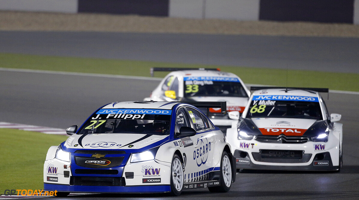 27 FILIPPI John (fra) Chevrolet Cruze team Campos racing action during the 2015 FIA WTCC World Touring Car Championship race at Losail  from November 25th to 27th  2015, Qatar. Photo Francois Flamand / DPPI AUTO - WTCC LOSAIL 2015 Francois Flamand Losail Qatar  Auto Championnat Du Monde Losail International Circuit Circuit Course Fia Motorsport November Novembre Quatar Tourisme Wtcc