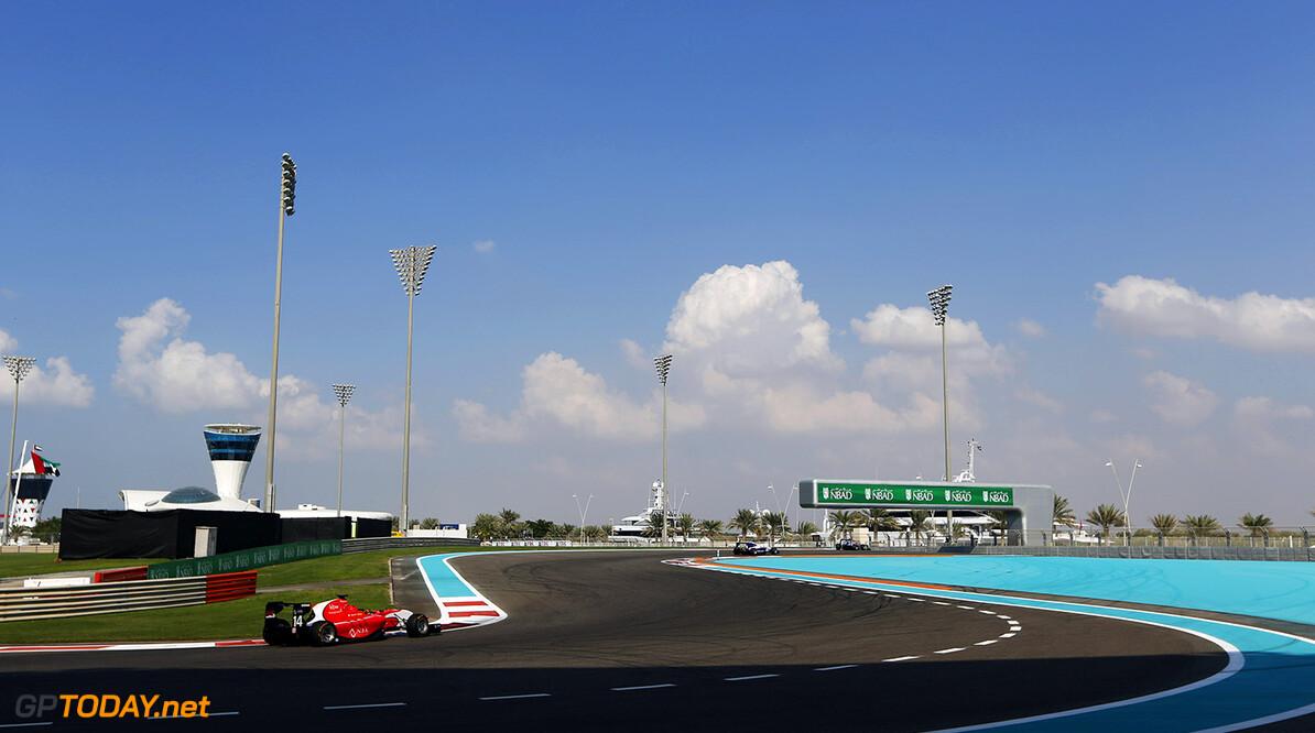 2015 GP3 Series Round 9. Yas Marina Circuit, Abu Dhabi, United Arab Emirates. Sunday 29 November 2015. Kevin Ceccon (ITA, Arden International). Photo: Zak Mauger/GP3 Series Media Service. ref: Digital Image _L0U7973   Zak Mauger    Race Two 2 action