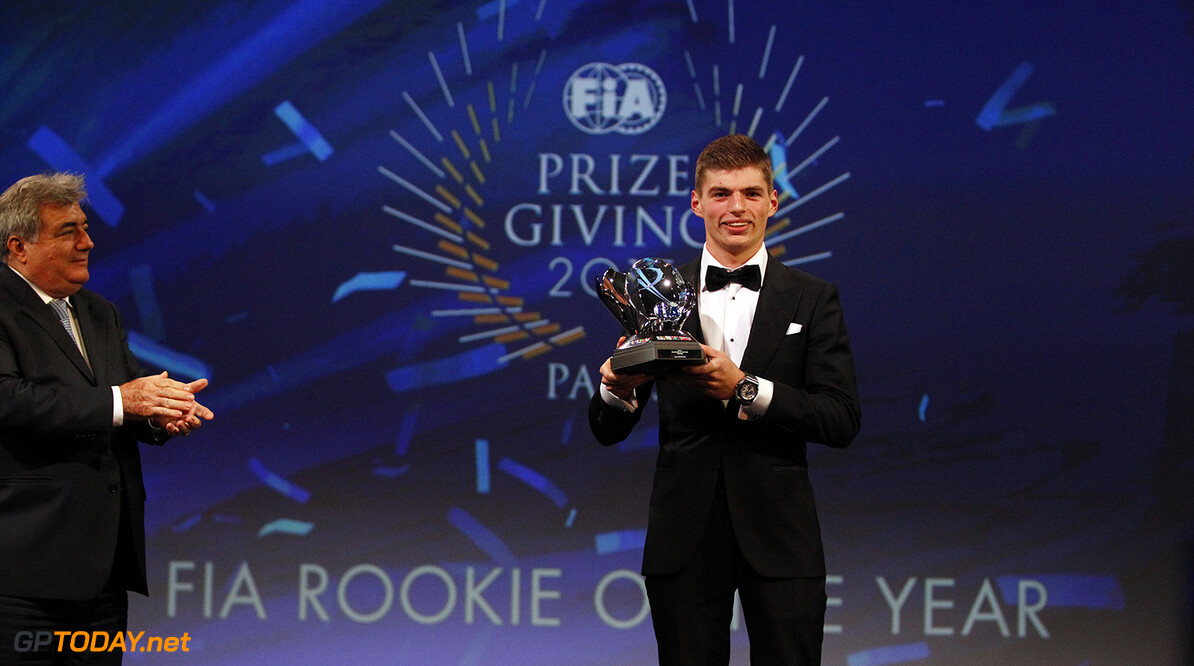 Max Verstappen, portrait during the FIA Prize Giving 2015 on December 4th 2015, at Paris, France. Photo Florent Gooden / DPPI AUTO - FIA PRIZE GIVING 2015 Florent Gooden  Paris France  2015 decembre december ceremonie ceremony Remise des prix awards celebration federation internationale de l'automobile international automobil federation auto