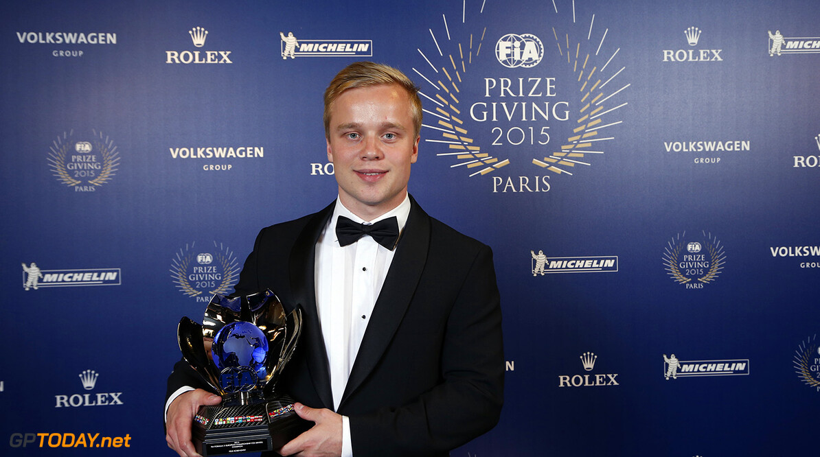 Felix Rosenqvist, portrait during the FIA Prize Giving 2015 on December 4th 2015, at Paris, France. Photo Jean Michel Le Meur / DPPI AUTO - FIA PRIZE GIVING 2015 Jean Michel Le Meur  Paris France  2015 decembre december ceremonie ceremony Remise des prix awards celebration federation internationale de l'automobile international automobil federation auto