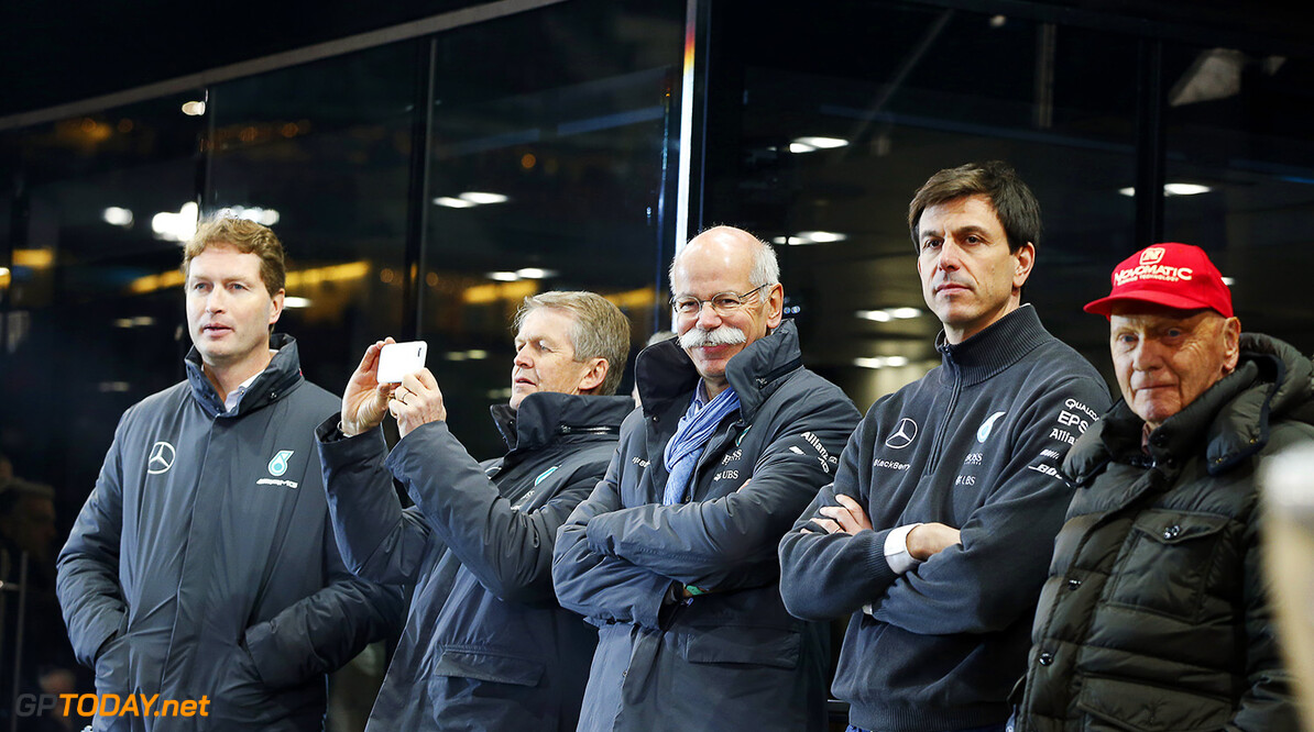 Wolff insists he has no problem with Ecclestone and Brawn.