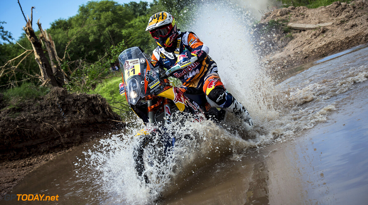Jordi Viladoms (ESP) of Red Bull KTM Factory Team races during prologue stage of Rally Dakar 2016 in Arrecifes, Argentina on January 2nd, 2016 // Marcelo Maragni/Red Bull Content Pool // P-20160103-00018 // Usage for editorial use only // Please go to www.redbullcontentpool.com for further information. //  Jordi Viladoms  Arrecifes Argentina  P-20160103-00018