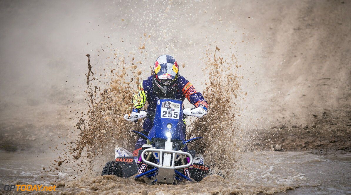 Mohamed Abu Issa (QAT) of Maxxis Super B races during prologue stage of Rally Dakar 2016 in Arrecifes, Argentina on January 2nd, 2016 // Marcelo Maragni/Red Bull Content Pool // P-20160103-00002 // Usage for editorial use only // Please go to www.redbullcontentpool.com for further information. //  Mohamed Abu Issa  Arrecifes Argentina  P-20160103-00002