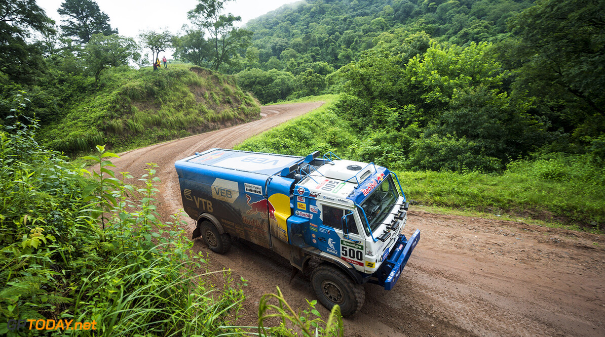 Ayrat Mardeev (RUS) of Team KAMAZ Master races during stage 03 of Rally Dakar 2016 from Termas de Rio Hondo to Jujuy, Argentina on January 5, 2016 // Marcelo Maragni/Red Bull Content Pool // P-20160105-00268 // Usage for editorial use only // Please go to www.redbullcontentpool.com for further information. //  Ayrat Mardeev   Argentina  P-20160105-00268