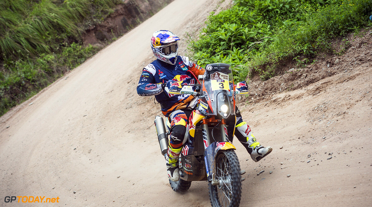 Toby Price (AUS) of Red Bull KTM Factory Team races during stage 03 of Rally Dakar 2016 from Termas de Rio Hondo to Jujuy, Argentina on January 5, 2016 // Marcelo Maragni/Red Bull Content Pool // P-20160105-00115 // Usage for editorial use only // Please go to www.redbullcontentpool.com for further information. //  Toby Price   Argentina  P-20160105-00115