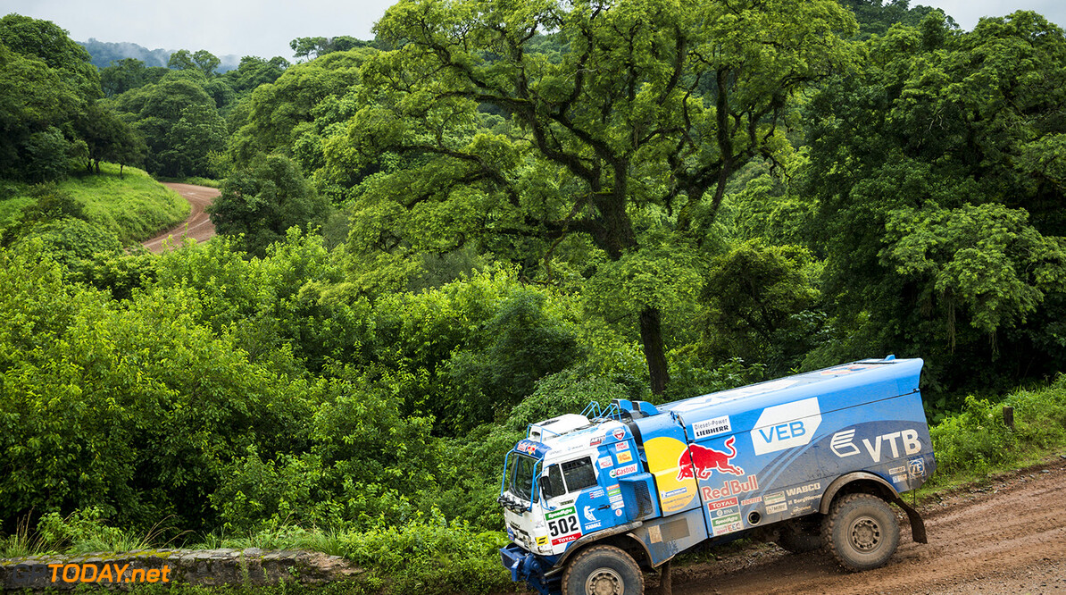 Eduard Nikolaev (RUS) of Team KAMAZ-master races during stage 03 of Rally Dakar 2016 from Termas de Rio Hondo to Jujuy, Argentina on January 5, 2016 // Marcelo Maragni/Red Bull Content Pool // P-20160105-00271 // Usage for editorial use only // Please go to www.redbullcontentpool.com for further information. //  Eduard Nikolaev   Argentina  P-20160105-00271