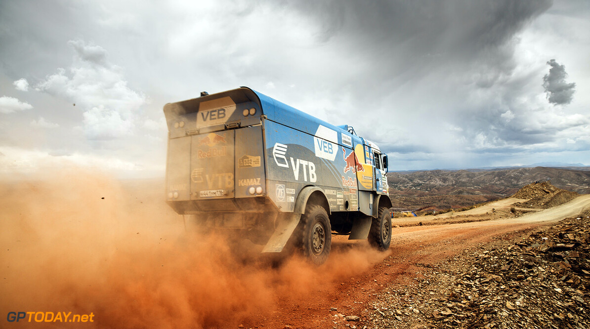 Eduard Nikolaev (RUS) from Team Kamaz Master during stage 5 of Rally Dakar 2016 from Jujuy, Argentina to Uyuni, Bolivia on January 7, 2016. // Flavien Duhamel/Red Bull Content Pool // P-20160107-00823 // Usage for editorial use only // Please go to www.redbullcontentpool.com for further information. //  Eduard Nikolaev Flavien Duhamel