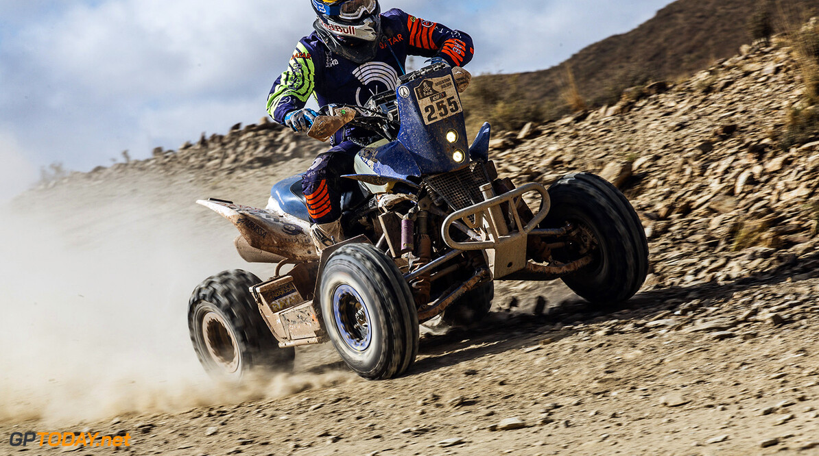 Mohamed Abu Issa. (QAT) from Maxxis Super B performs during stage 5 of Rally Dakar 2016 from Jujuy, Argentina to Uyuni, Bolivia on January 7, 2016. // Flavien Duhamel/Red Bull Content Pool // P-20160107-00807 // Usage for editorial use only // Please go to www.redbullcontentpool.com for further information. //  Mohamed Abu Issa Flavien Duhamel