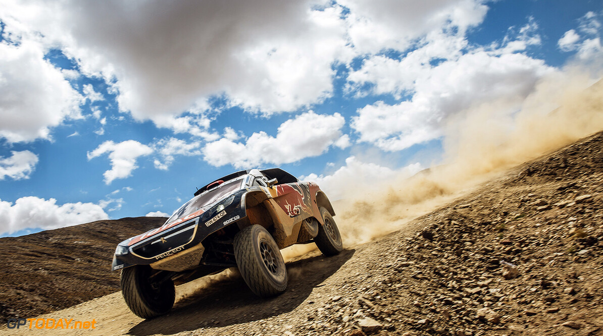 Cyril Despres (FRA) from Team Peugeot Total performs during stage 5 of Rally Dakar 2016 from Jujuy, Argentina to Uyuni, Bolivia on January 7, 2016. // Flavien Duhamel/Red Bull Content Pool // P-20160107-00815 // Usage for editorial use only // Please go to www.redbullcontentpool.com for further information. //  Cyril Despres Flavien Duhamel