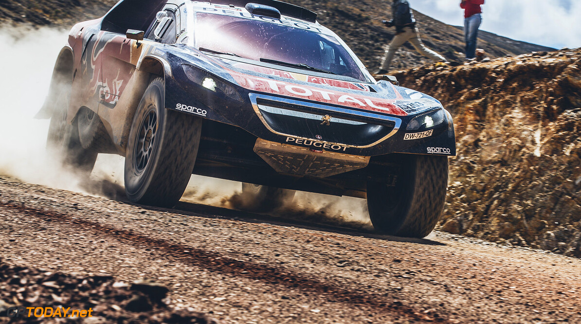 Carlos Sainz (ESP) from Team Peugeot Total performs during stage 5 of Rally Dakar 2016 from Jujuy, Argentina to Uyuni, Bolivia on January 7, 2016. // Flavien Duhamel/Red Bull Content Pool // P-20160107-00824 // Usage for editorial use only // Please go to www.redbullcontentpool.com for further information. //  Carlos Sainz  Flavien Duhamel