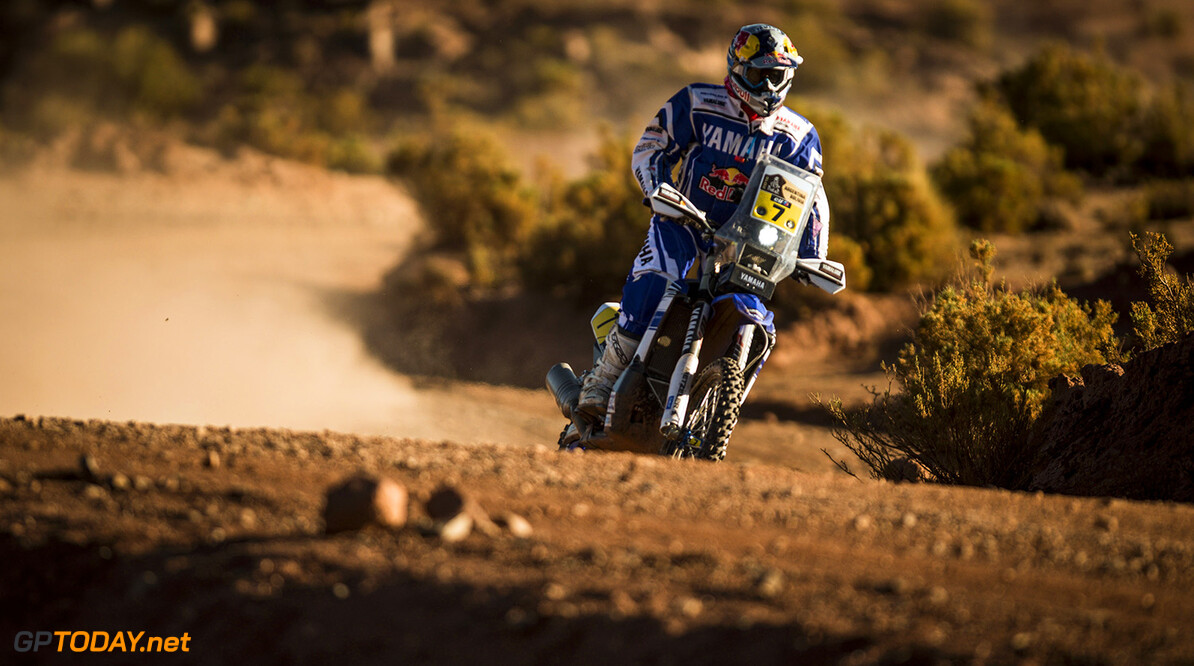 Helder Rodrigues (PRT) of Yamaha Racing Team races during stage 07 of Rally Dakar 2016 from Uyuni, Bolivia to Salta, Argentina on January 9, 2016 // Marcelo Maragni/Red Bull Content Pool // P-20160109-00095 // Usage for editorial use only // Please go to www.redbullcontentpool.com for further information. //  Helder Rodrigues   Argentina  P-20160109-00095