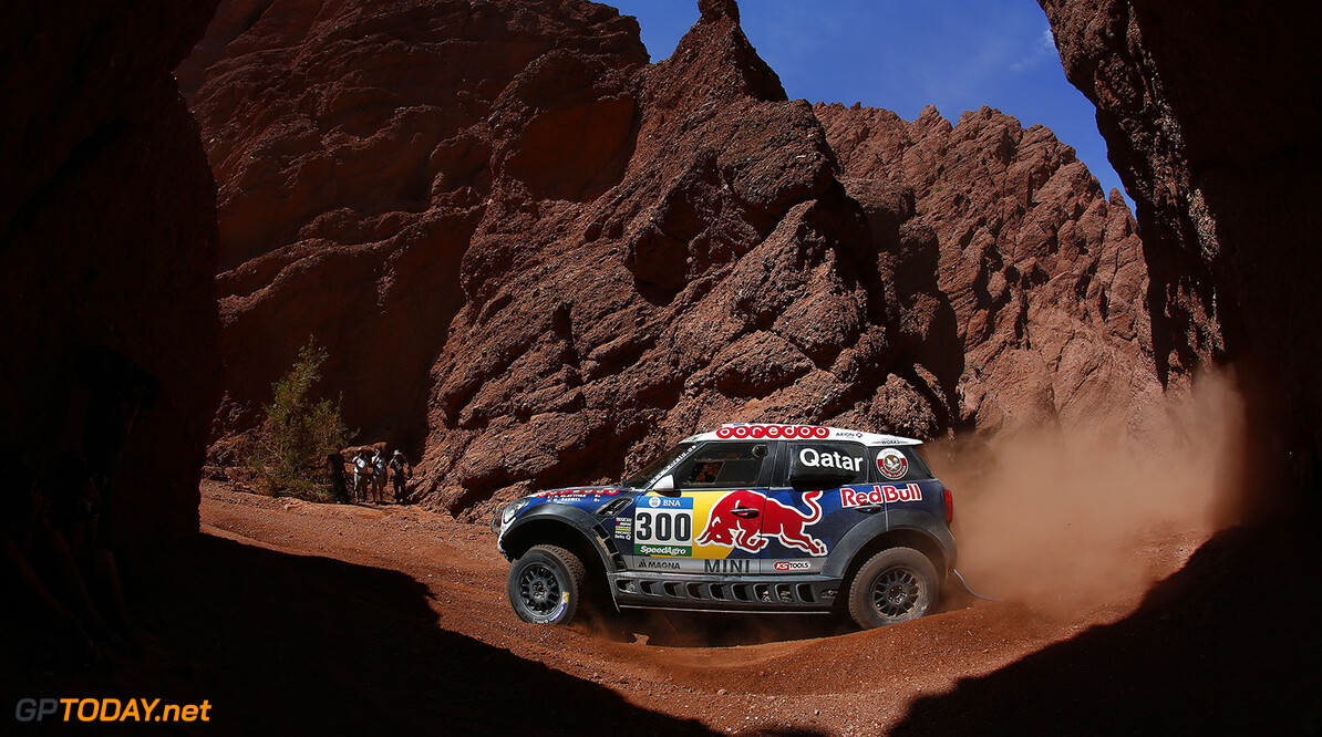 300 AL-ATTIYAH Nasser (qat) BAUMEL Matthieu (fra) MINI action during the Dakar 2016 Argentina,  Bolivia, Etape 8 / Stage 8, Salta - Belen,  from  January 11, 2016 - Photo Frederic Le Floc'h / DPPI AUTO - DAKAR 2016 - PART 2 Frederic Le Floc'h Salta Argentine  Amerique Du Sud Argentine Auto Bikes Bolivie Camion Course Dakar January Janvier Moto Quad Rally Rallye Rallye Raid Rallyes Raid Rallyraid Trucks