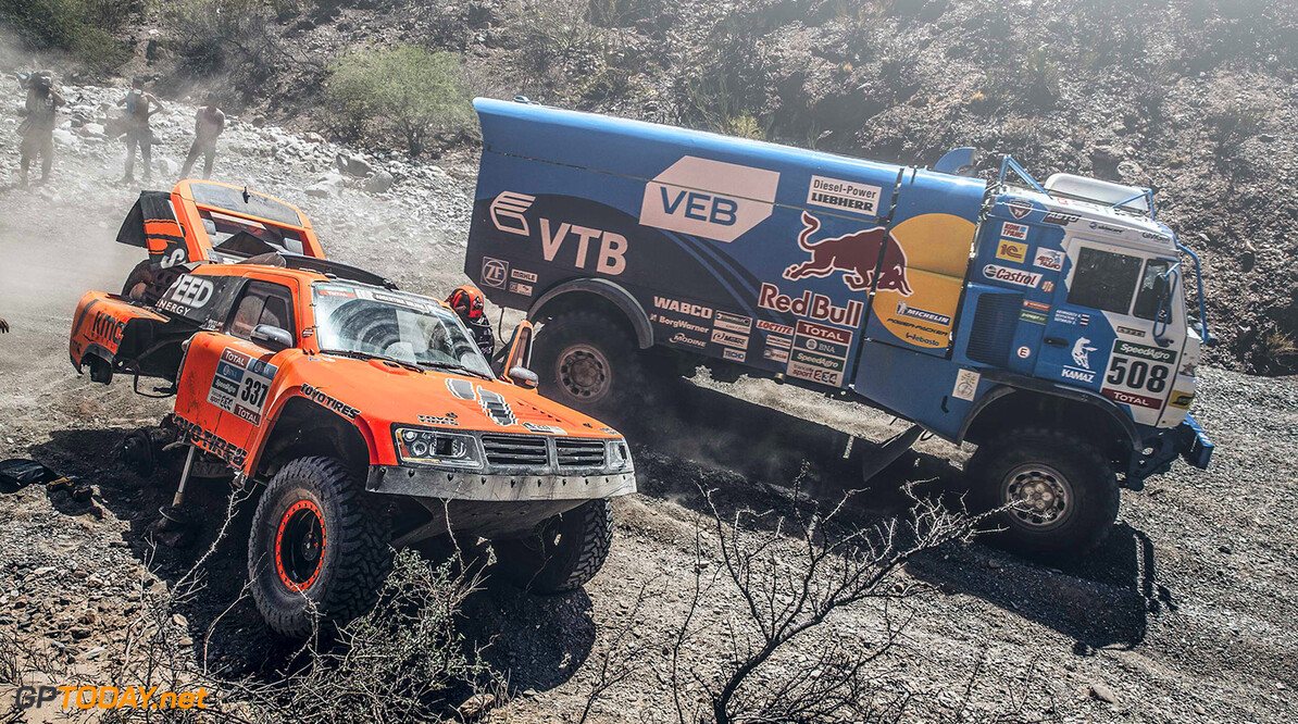 Dmitry Sotnikov (RUS) from Team Kamaz Master performs during stage 8 of Rally Dakar 2016 from Salta to Belen, Argentina on January 11, 2016. // Flavien Duhamel/Red Bull Content Pool // P-20160111-00326 // Usage for editorial use only // Please go to www.redbullcontentpool.com for further information. //  Dmitry Sotnikov  Flavien Duhamel