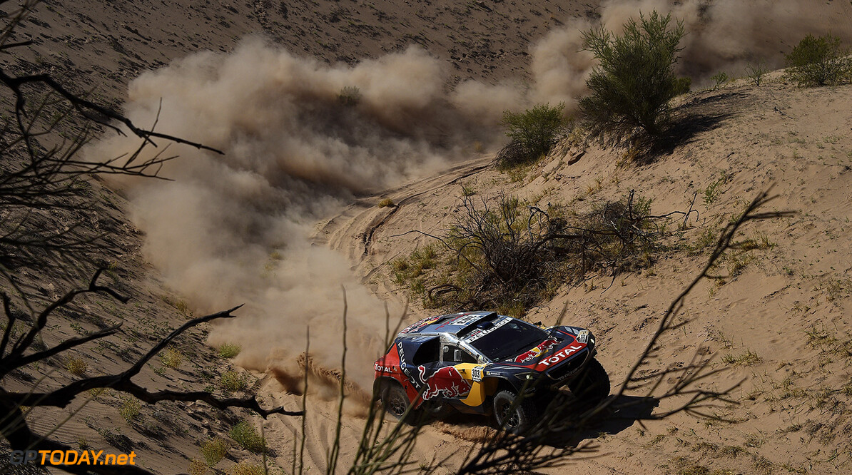 Carlos Sainz (ESP) from Team Peugeot Total performs during stage 09 of Rally Dakar 2016 around Belen, Argentina on January 12, 2016 // DPPI / Red Bull Content Pool  // P-20160112-00126 // Usage for editorial use only // Please go to www.redbullcontentpool.com for further information. //  Carlos Sainz DPPI Belen Argentina  P-20160112-00126