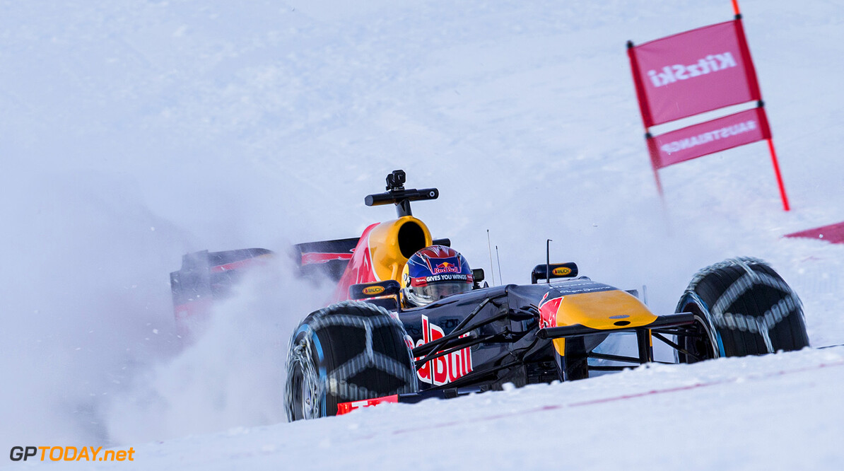 Max Verstappen performs during the F1 Showrun at the Hahnenkamm in Kitzbuehel, Austria on January 14, 2015 // Samo Vidic/Red Bull Content Pool // P-20160114-00280 // Usage for editorial use only // Please go to www.redbullcontentpool.com for further information. //  Max Verstappen  Kitzb?hel Austria  P-20160114-00280