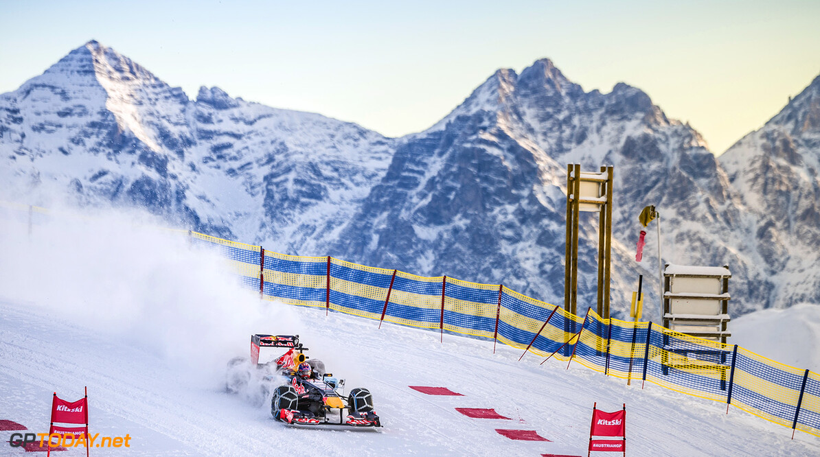 Max Verstappen performs during the F1 Showrun at the Hahnenkamm in Kitzbuehel, Austria on Jannuary 14, 2016. // Philip Platzer/Red Bull Content Pool // P-20160114-00292 // Usage for editorial use only // Please go to www.redbullcontentpool.com for further information. //  Max Verstappen Philip Platzer Kitzb?hel Austria  P-20160114-00292