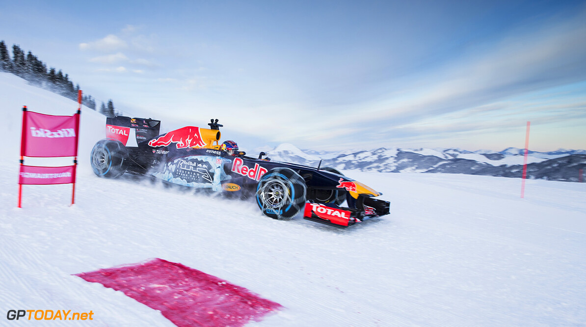 Max Verstappen performs during the F1 Showrun at the Hahnenkamm in Kitzbuehel, Austria on January 14, 2015 // Samo Vidic/Red Bull Content Pool // P-20160114-00258 // Usage for editorial use only // Please go to www.redbullcontentpool.com for further information. //  Max Verstappen  Kitzb?hel Austria  P-20160114-00258