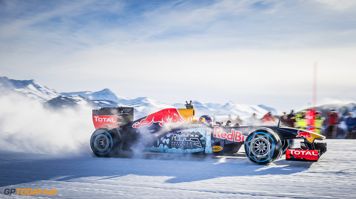 Max Verstappen performs during the F1 Showrun at the Hahnenkamm in Kitzbuehel, Austria on Jannuary 14, 2016. // Philip Platzer/Red Bull Content Pool // P-20160114-00302 // Usage for editorial use only // Please go to www.redbullcontentpool.com for further information. //  Max Verstappen Philip Platzer Kitzb?hel Austria  P-20160114-00302
