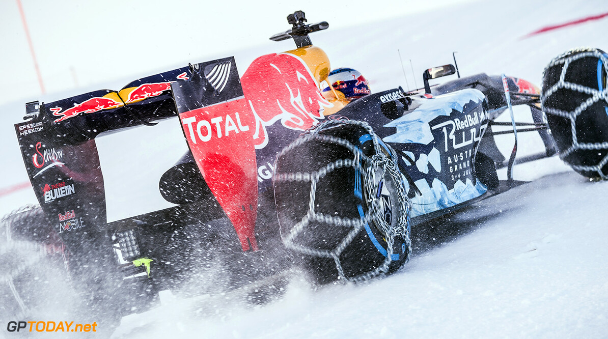 Max Verstappen performs during the F1 Showrun at the Hahnenkamm in Kitzbuehel, Austria on Jannuary 14, 2016. // Philip Platzer/Red Bull Content Pool // P-20160114-00321 // Usage for editorial use only // Please go to www.redbullcontentpool.com for further information. //  Max Verstappen Philip Platzer Kitzb?hel Austria  P-20160114-00321