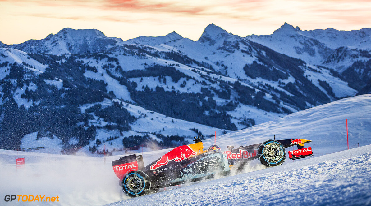Max Verstappen performs during the F1 Showrun at the Hahnenkamm in Kitzbuehel, Austria on Jannuary 14, 2016. // Philip Platzer/Red Bull Content Pool // P-20160114-00290 // Usage for editorial use only // Please go to www.redbullcontentpool.com for further information. //  Max Verstappen Philip Platzer Kitzb?hel Austria  P-20160114-00290