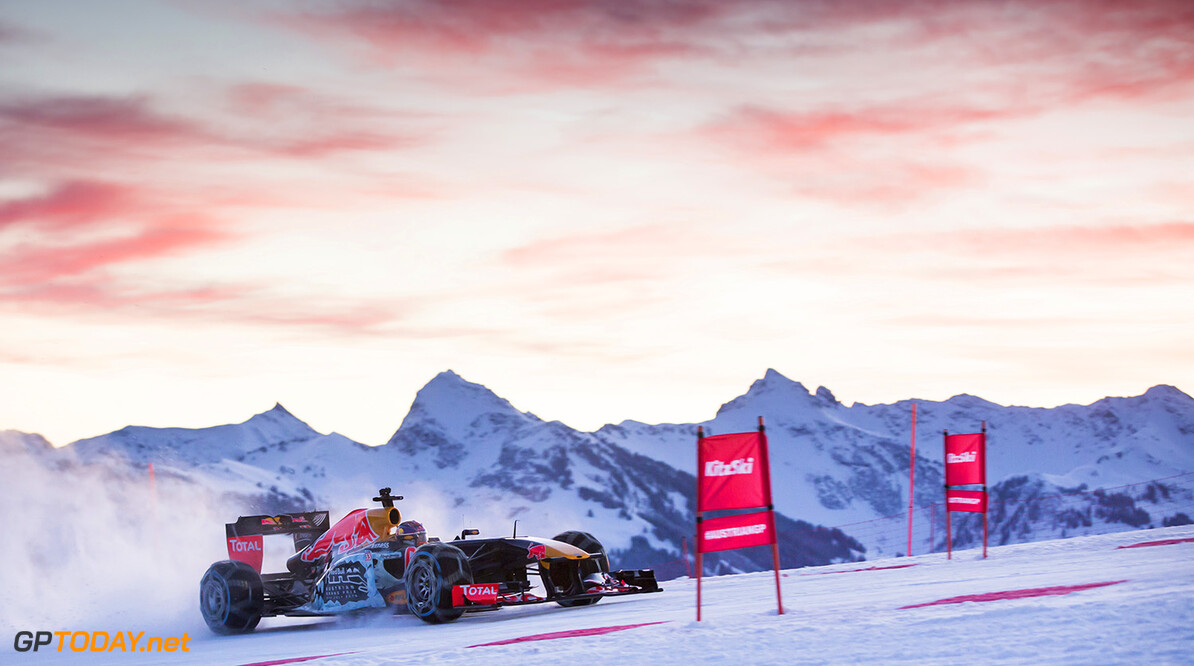 Max Verstappen performs during the F1 Showrun at the Hahnenkamm in Kitzbuehel, Austria on January 14, 2015 // Samo Vidic/Red Bull Content Pool // P-20160114-00276 // Usage for editorial use only // Please go to www.redbullcontentpool.com for further information. //  Max Verstappen  Kitzb?hel Austria  P-20160114-00276