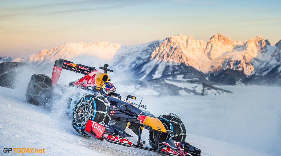 Max Verstappen performs during the F1 Showrun at the Hahnenkamm in Kitzbuehel, Austria on Jannuary 14, 2016. // Philip Platzer/Red Bull Content Pool // P-20160114-00296 // Usage for editorial use only // Please go to www.redbullcontentpool.com for further information. //  Max Verstappen Philip Platzer Kitzb?hel Austria  P-20160114-00296
