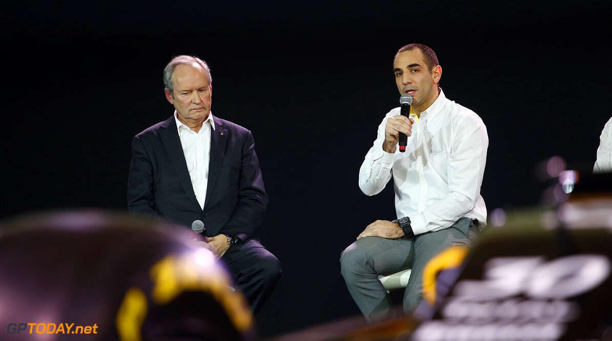 STOLL Jerome (fra) Renault Sport F1 president with ABITEBOUL Cyril (fra) Renault Sport F1 managing director ambiance portrait during the Renault Sport F1 launch at Guyancourt Technocentre, France on february 3 2016 -  Photo Frederic Le Floc'h / DPPI AUTO - RENAULT SPORT F1 LAUNCH  - 2016 Frederic Le Floc'h Guyancourt France  rst guyancourt paris renault sport cars sports car fevrier F1 Formula one Formula 1 presentation lancement annonce annoucement