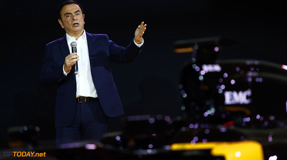 GHOSN Carlos Renault President ambiance portrait during the Renault Sport F1 launch at Guyancourt Technocentre, France on february 3 2016 -  Photo Frederic Le Floc'h / DPPI AUTO - RENAULT SPORT F1 LAUNCH  - 2016 Frederic Le Floc'h Guyancourt France  rst guyancourt paris renault sport cars sports car fevrier F1 Formula one Formula 1 presentation lancement annonce annoucement