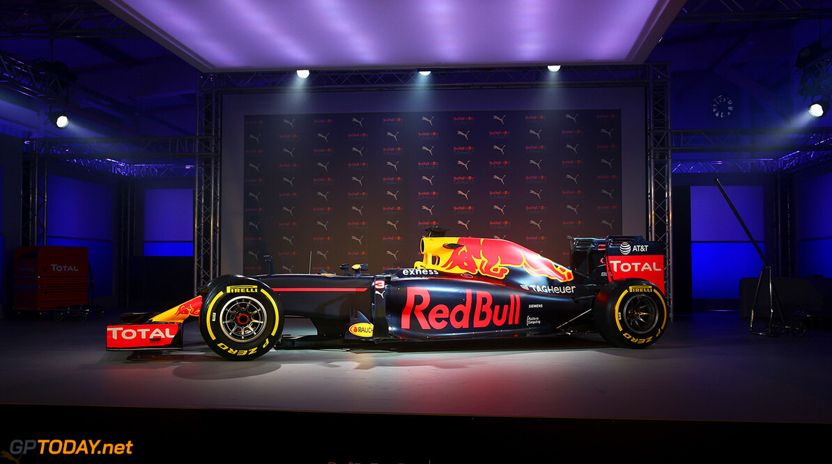 LONDON, ENGLAND - FEBRUARY 17:  The RB11 featuring the 2016 livery is unveiled during the launch event for PUMA and Red Bull Racing's 2016 Livery and Teamwear at Old Truman Brewery on February 17, 2016 in London, England.  (Photo by Clive Mason/Getty Images) // P-20160217-00353 // Usage for editorial use only // Please go to www.redbullcontentpool.com for further information. //  PUMA & Red Bull Racing Launch 2016 Livery & Teamwear Clive Mason London United Kingdom  P-20160217-00353