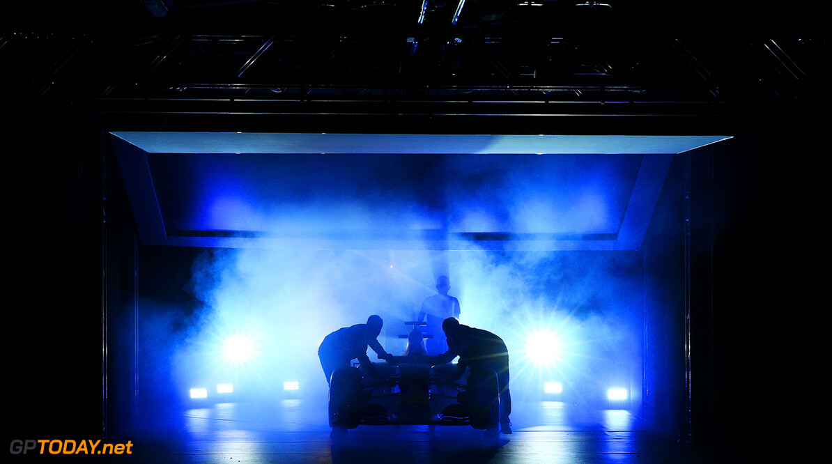 LONDON, ENGLAND - FEBRUARY 17:  The RB11 featuring the 2016 livery is unveiled during the launch event for PUMA and Red Bull Racing's 2016 Livery and Teamwear at Old Truman Brewery on February 17, 2016 in London, England.  (Photo by Clive Mason/Getty Images) // P-20160217-00360 // Usage for editorial use only // Please go to www.redbullcontentpool.com for further information. //  PUMA & Red Bull Racing Launch 2016 Livery & Teamwear Clive Mason London United Kingdom  P-20160217-00360
