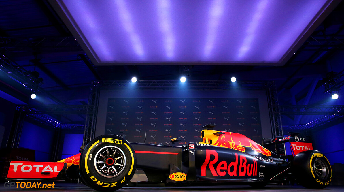 LONDON, ENGLAND - FEBRUARY 17:  The RB11 featuring the 2016 livery is unveiled during the launch event for PUMA and Red Bull Racing's 2016 Livery and Teamwear at Old Truman Brewery on February 17, 2016 in London, England.  (Photo by Mark Thompson/Getty Images) // P-20160217-00412 // Usage for editorial use only // Please go to www.redbullcontentpool.com for further information. //  PUMA & Red Bull Racing Launch 2016 Livery & Teamwear Mark Thompson London United Kingdom  P-20160217-00412