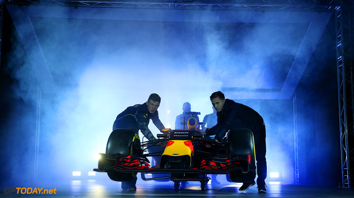 LONDON, ENGLAND - FEBRUARY 17:  The RB11 featuring the 2016 livery is unveiled during the launch event for PUMA and Red Bull Racing's 2016 Livery and Teamwear at Old Truman Brewery on February 17, 2016 in London, England.  (Photo by Mark Thompson/Getty Images) // P-20160217-00366 // Usage for editorial use only // Please go to www.redbullcontentpool.com for further information. //  PUMA & Red Bull Racing Launch 2016 Livery & Teamwear Mark Thompson London United Kingdom  P-20160217-00366