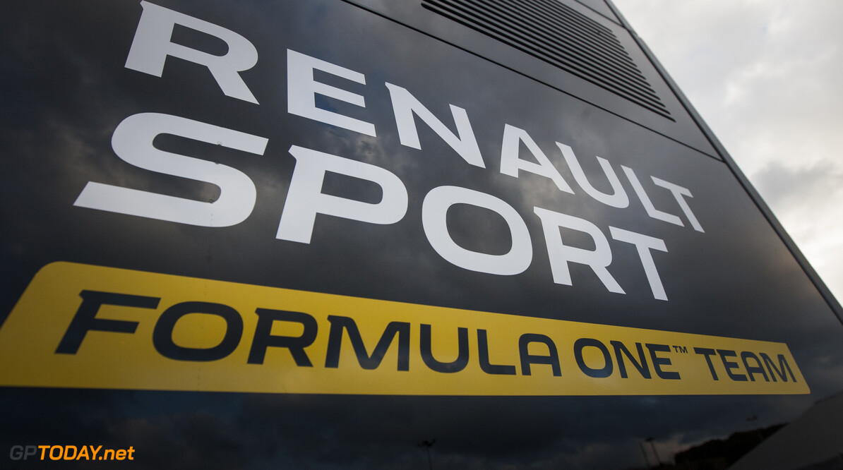 160219RF10034 BARCELONA, SPAIN - 19 FEBRUARY 2016: Renault Sport Formula One Team during Formula 1's Pre-Season Test at Circuit de Barcelona-Catalunya. Formula 1's Pre-Season Test Ronald Fleurbaaij Barcelona Spain  Sport Sports Autosport Motorsports Auto Car Racewagen Race Car Formule 1 Formula 1 F1 FIA Formula One World Championship Spain Spanje Circuit de Barcelona-Catalunya Pre-Season Test