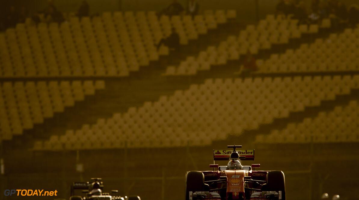 160222RF21234 BARCELONA, SPAIN - 22 FEBRUARY 2016: #5 Sebastian Vettel (DEU), Scuderia Ferrari, during day 1 of Formula 1's Pre-Season Test at Circuit de Barcelona-Catalunya. Formula 1's Pre-Season Test Ronald Fleurbaaij Barcelona Spain  Sport Sports Autosport Motorsports Auto Car Racewagen Race Car Formule 1 Formula 1 F1 FIA Formula One World Championship Spain Spanje Circuit de Barcelona-Catalunya Pre-Season Test