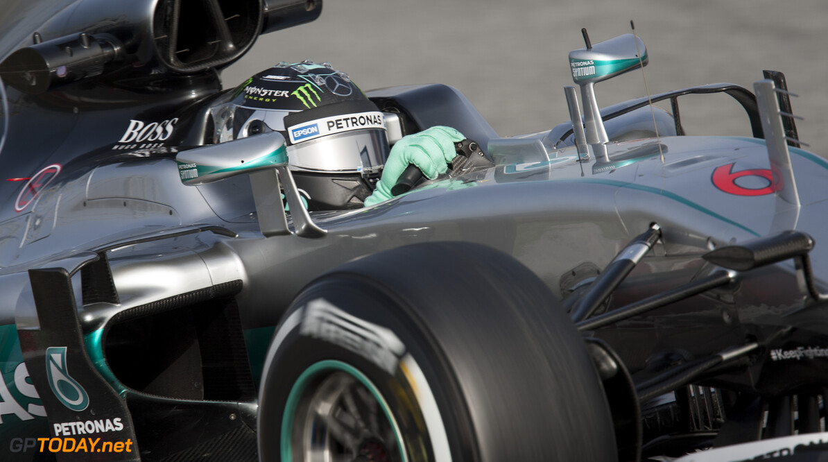 160223RF21791 BARCELONA, SPAIN - 23 FEBRUARY 2016: #6 Nico Rosberg (DEU), Mercedes AMG Petronas F1 Team, during day 1 of Formula 1's Pre-Season Test at Circuit de Barcelona-Catalunya. Formula 1's Pre-Season Test Ronald Fleurbaaij Barcelona Spain  Sport Sports Autosport Motorsports Auto Car Racewagen Race Car Formule 1 Formula 1 F1 FIA Formula One World Championship Spain Spanje Circuit de Barcelona-Catalunya Pre-Season Test