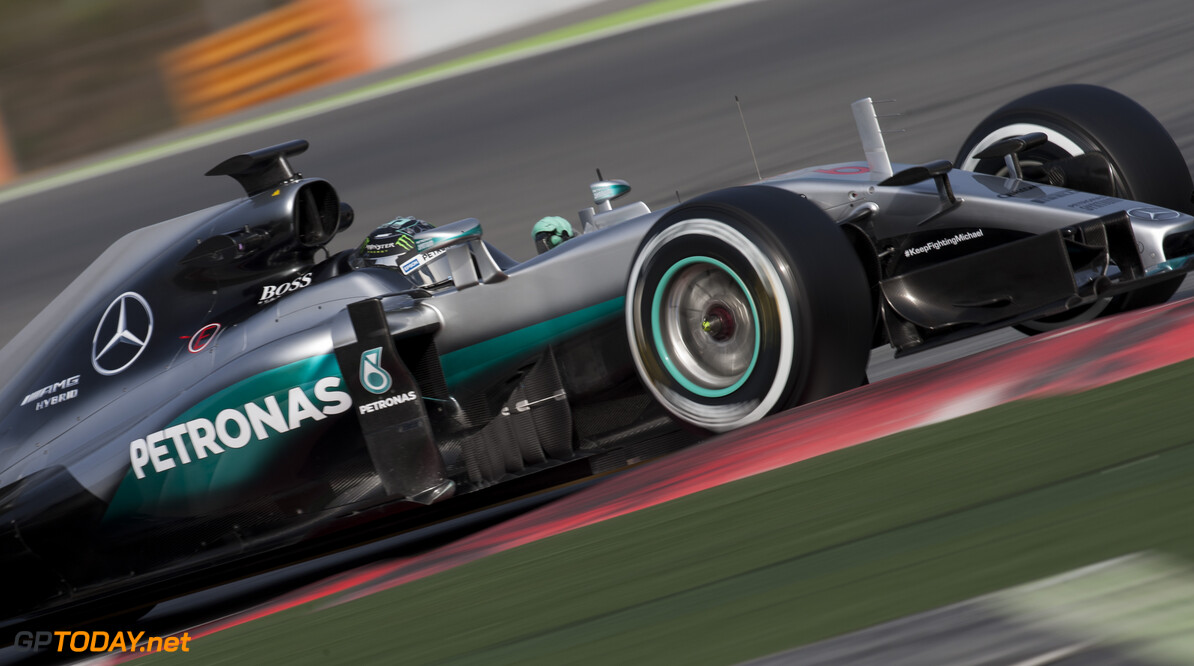 160223RF21913 BARCELONA, SPAIN - 23 FEBRUARY 2016: #6 Nico Rosberg (DEU), Mercedes AMG Petronas F1 Team, during day 1 of Formula 1's Pre-Season Test at Circuit de Barcelona-Catalunya. Formula 1's Pre-Season Test Ronald Fleurbaaij Barcelona Spain  Sport Sports Autosport Motorsports Auto Car Racewagen Race Car Formule 1 Formula 1 F1 FIA Formula One World Championship Spain Spanje Circuit de Barcelona-Catalunya Pre-Season Test
