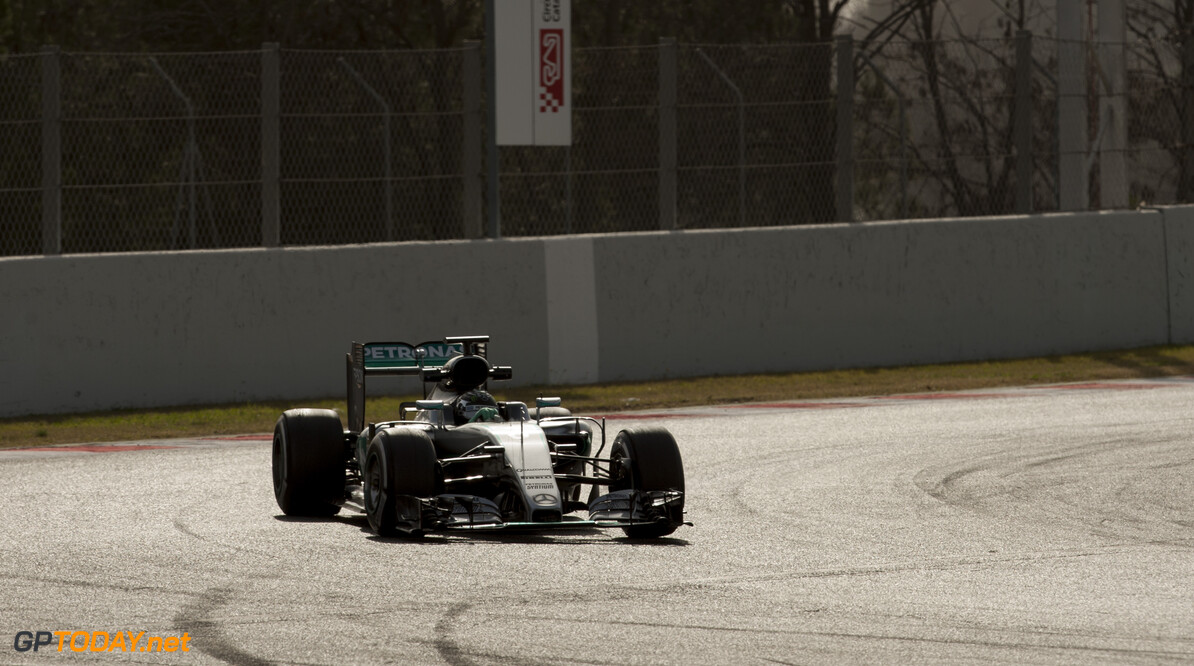 160223RF22154 BARCELONA, SPAIN - 23 FEBRUARY 2016: #6 Nico Rosberg (DEU), Mercedes AMG Petronas F1 Team, during day 1 of Formula 1's Pre-Season Test at Circuit de Barcelona-Catalunya. Formula 1's Pre-Season Test Ronald Fleurbaaij Barcelona Spain  Sport Sports Autosport Motorsports Auto Car Racewagen Race Car Formule 1 Formula 1 F1 FIA Formula One World Championship Spain Spanje Circuit de Barcelona-Catalunya Pre-Season Test