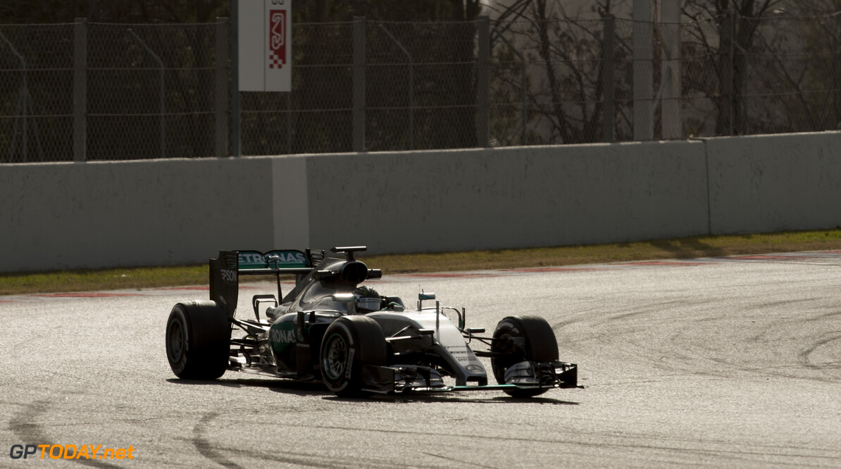 160223RF22171 BARCELONA, SPAIN - 23 FEBRUARY 2016: #6 Nico Rosberg (DEU), Mercedes AMG Petronas F1 Team, during day 1 of Formula 1's Pre-Season Test at Circuit de Barcelona-Catalunya. Formula 1's Pre-Season Test Ronald Fleurbaaij Barcelona Spain  Sport Sports Autosport Motorsports Auto Car Racewagen Race Car Formule 1 Formula 1 F1 FIA Formula One World Championship Spain Spanje Circuit de Barcelona-Catalunya Pre-Season Test