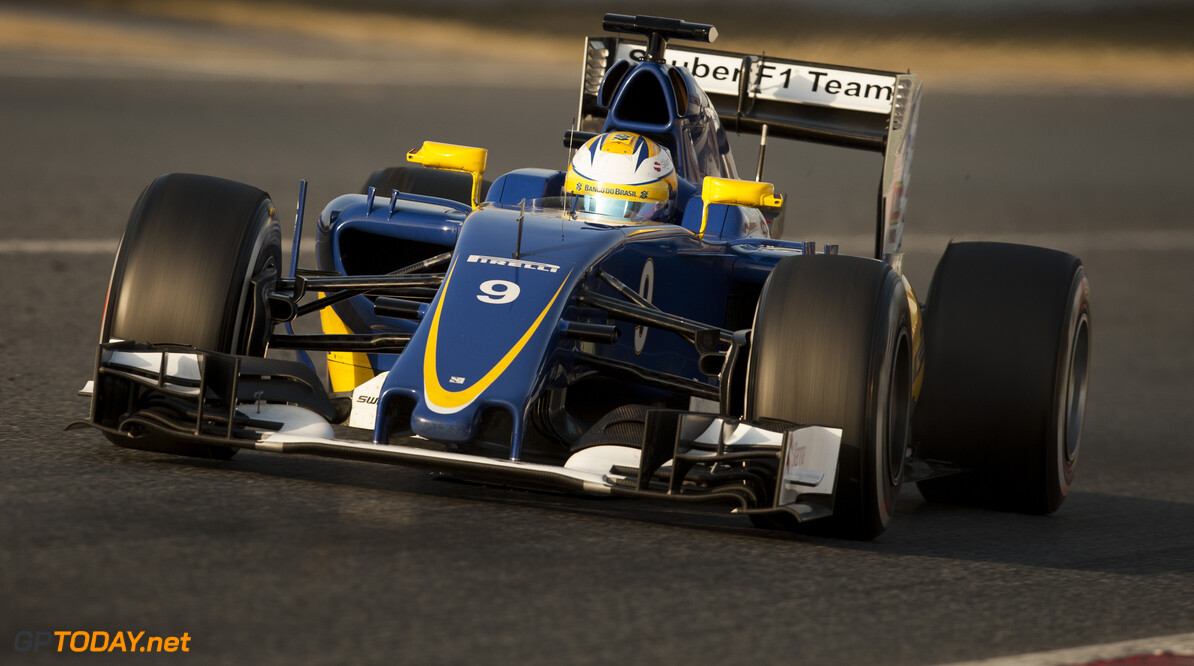 160223RF22527 BARCELONA, SPAIN - 23 FEBRUARY 2016: #9 Marcus Ericsson (SWE), Sauber F1 Team, during day 1 of Formula 1's Pre-Season Test at Circuit de Barcelona-Catalunya. Formula 1's Pre-Season Test Ronald Fleurbaaij Barcelona Spain  Sport Sports Autosport Motorsports Auto Car Racewagen Race Car Formule 1 Formula 1 F1 FIA Formula One World Championship Spain Spanje Circuit de Barcelona-Catalunya Pre-Season Test