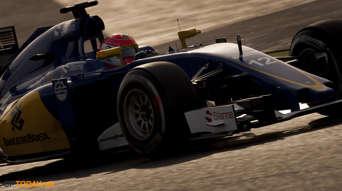 160224RF22718 BARCELONA, SPAIN - 24 FEBRUARY 2016: #12 Felipe Nasr (BRA), Sauber F1 Team, during day 1 of Formula 1's Pre-Season Test at Circuit de Barcelona-Catalunya. Formula 1's Pre-Season Test Ronald Fleurbaaij Barcelona Spain  Sport Sports Autosport Motorsports Auto Car Racewagen Race Car Formule 1 Formula 1 F1 FIA Formula One World Championship Spain Spanje Circuit de Barcelona-Catalunya Pre-Season Test